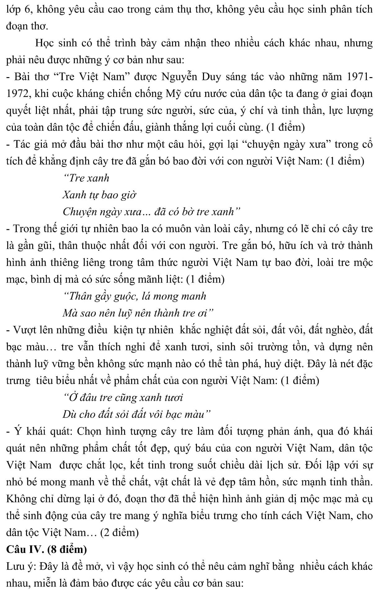 Đáp án và đề thi HSG Ngữ Văn 6 phòng GD&ĐT Bắc Ninh 2013-2014
