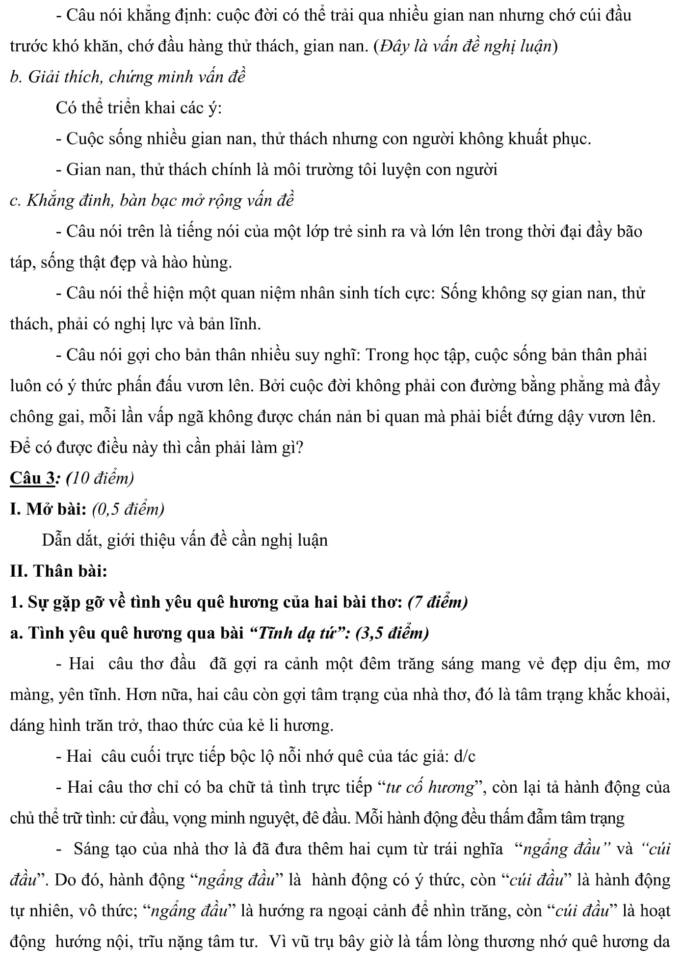 Đáp án và đề thi HSG Ngữ Văn 7 phòng GD&ĐT TP Bắc Giang 2016-2017
