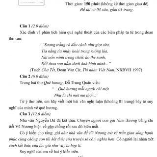 Đáp án và đề thi HSG Ngữ Văn 9 phòng GD&ĐT Thanh Hóa 2013-2014