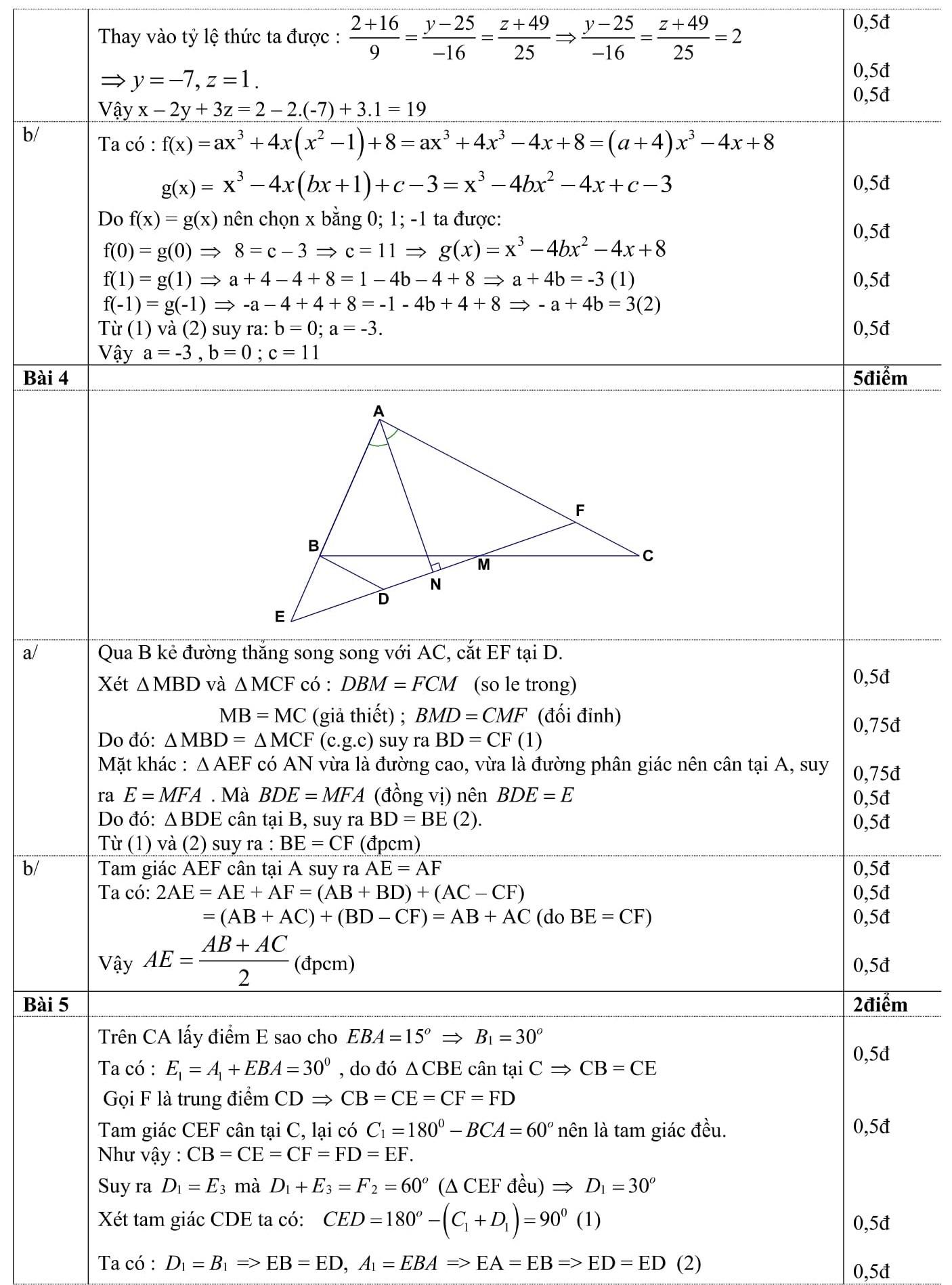 Đáp án và đề thi HSG toán 7 phòng GD&ĐT Ngọc Lặc 2015-2016