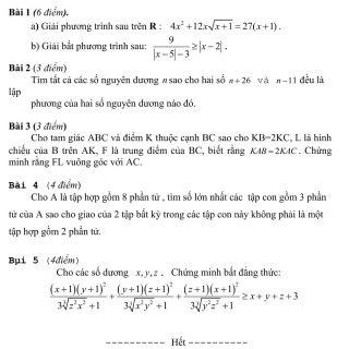 Đáp án và đề thi HSG toán 10 phòng GD&ĐT Thái Nguyên 2011-2012