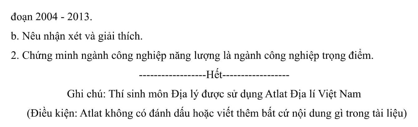 Đáp án và đề thi HSG Địa Lí 9 phòng GD&ĐT Phù Ninh 2016-2017