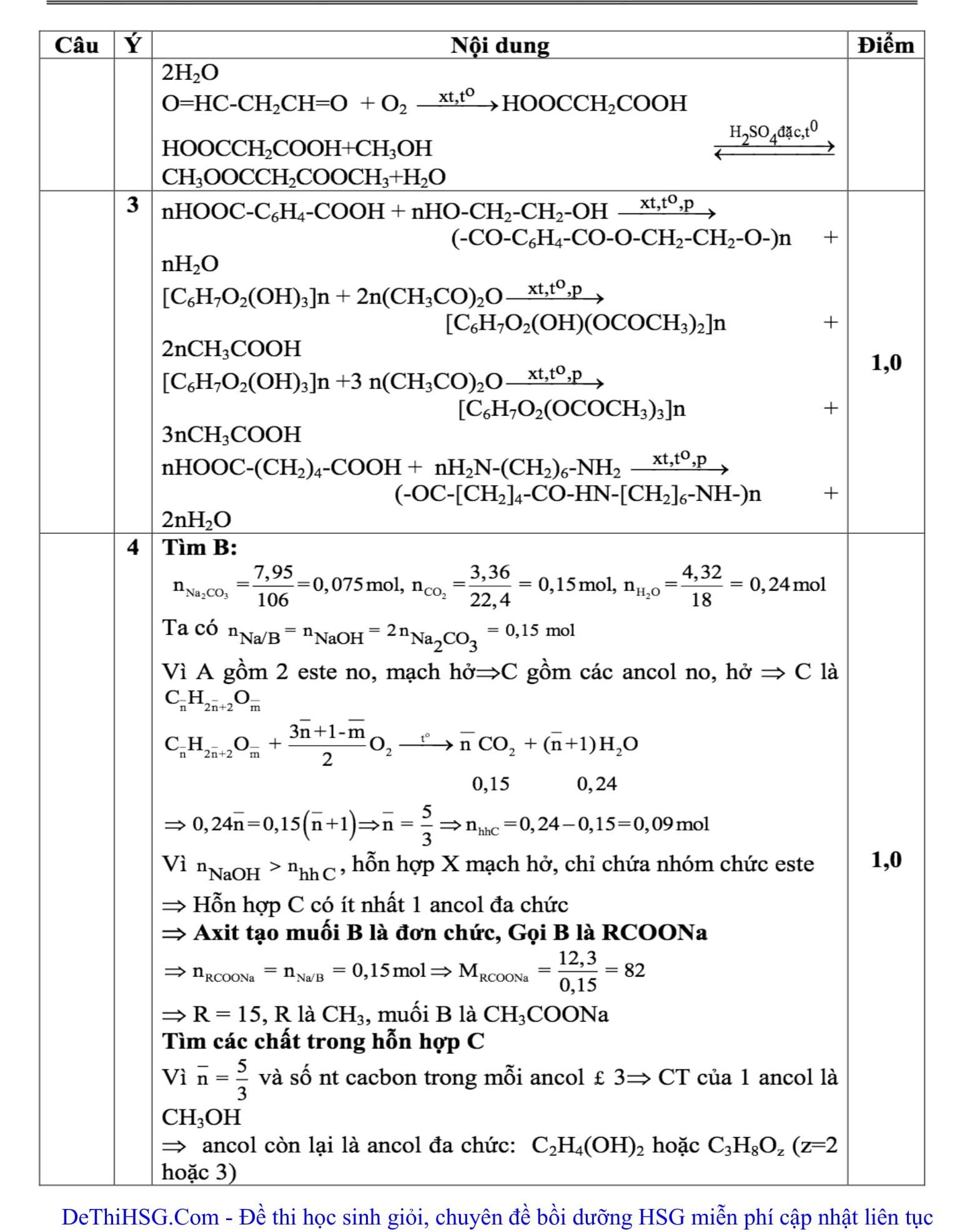 Đáp án và đề thi HSG Hóa học lớp 12 GD&ĐT Quảng Trị 2016-2017