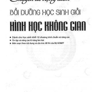 Chuyên đề trọng điểm bồi dưỡng học sinh giỏi hình học không gian – Nguyễn Quang Sơn