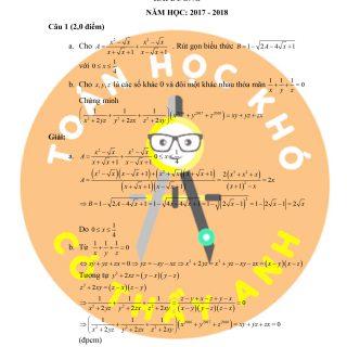 Đề thi và đáp án học sinh giỏi môn Toán THCS tỉnh Hải Dương 2018
