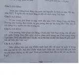 Đề thi HSG môn Lịch sử lớp 9 tỉnh Hà Tĩnh 2017-2018