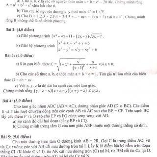 Đề thi học sinh giỏi toán 9 tỉnh Quảng Ngãi