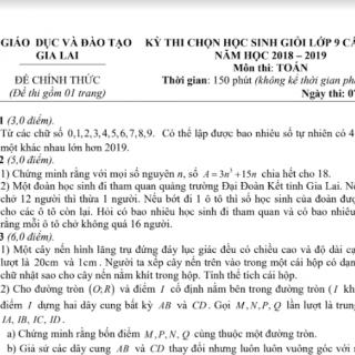 ĐỀ THI HỌC SINH GIỎI MÔN TOÁN LỚP 9 CÓ ĐÁP ÁN